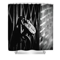 Shower Curtain featuring the photograph Locked Away by Doug Camara