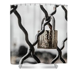 Locked In Paris Shower Curtain