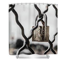 Locked In Paris Shower Curtain