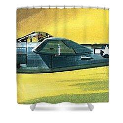 Lockheed P-38j Lightning Shower Curtain