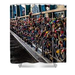 Locks Of Lock Bridge Shower Curtain