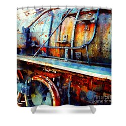 Locomotive Blues - On The Move Shower Curtain