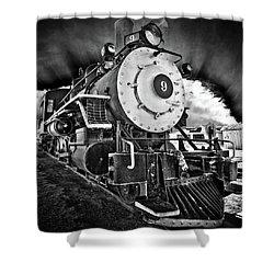 Locomotive Nine Shower Curtain