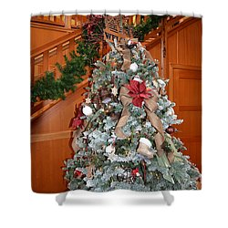 Lodge Lobby Tree Shower Curtain