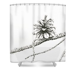 Lodgepole Pine Cone Shower Curtain