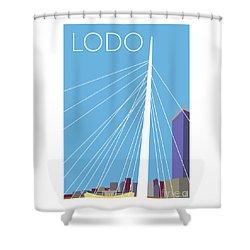 Lodo/blue Shower Curtain