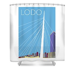 Lodo/blue Shower Curtain
