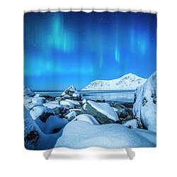 Lofoten Aurora Shower Curtain