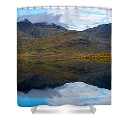 Lofoten Lake Shower Curtain