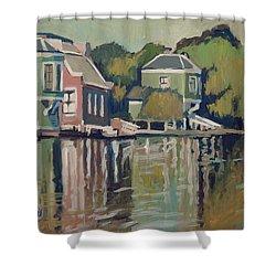 Lofts Along The River Zaan In Zaandam Shower Curtain