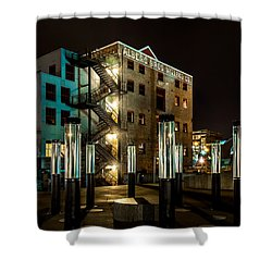 Lofts Overlooking Water Forest Shower Curtain