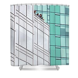 Shower Curtain featuring the photograph Lofty View by Chris Dutton