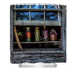 Shower Curtain featuring the photograph Log Cabin Window by Paul Freidlund