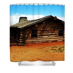 Log Cabin Yr 1800 Shower Curtain