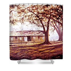 Log House On 421 Shower Curtain