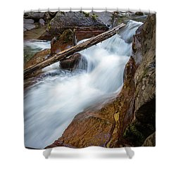 Log In The Rapids Shower Curtain