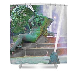 Logan Circle Fountain 4 Shower Curtain by Bill Cannon