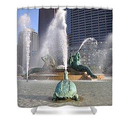 Logan Circle Fountain Shower Curtain by Bill Cannon