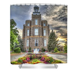 Logan L D S Temple 2 Shower Curtain by Donna Kennedy
