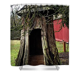 Loggers Outhouse Shower Curtain