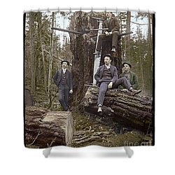 Loggers Sunday Best 1911 Shower Curtain