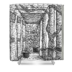 Loggia En Provence Shower Curtain