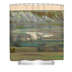 Logging Camp River Reverie Shower Curtain