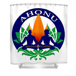 Logo Of Ahonu.com Shower Curtain