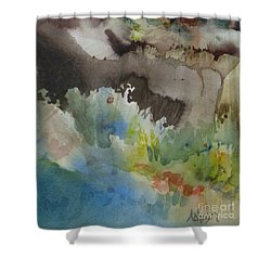 Lointain Shower Curtain by Donna Acheson-Juillet