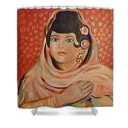 Shower Curtain featuring the painting Lola by John Keaton