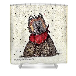 Lola The Dog Shower Curtain by MaryLee Parker