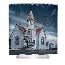 Shower Curtain featuring the photograph Loleta Church by Greg Nyquist