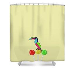 Lolipop Bird Shower Curtain