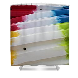 Shower Curtain featuring the photograph Lolipop Kayaks by Joel Witmeyer