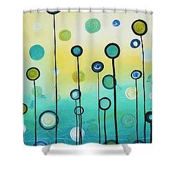 Lollipop Field By Madart Shower Curtain by Megan Duncanson