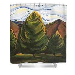 Lollipop Trees Shower Curtain by Pat Purdy