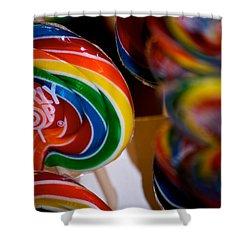 Lollipops Shower Curtain by Lisa Knechtel