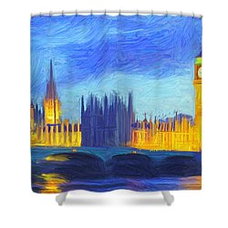 London 1 Shower Curtain