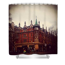 London Street Shower Curtain by Molly Malone