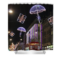 London At Christmas Shower Curtain