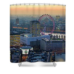 London At Sunset Shower Curtain