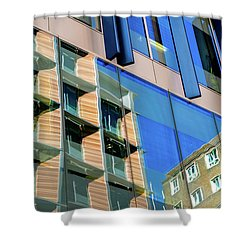 London Bankside Architecture 3 Shower Curtain by Judi Saunders