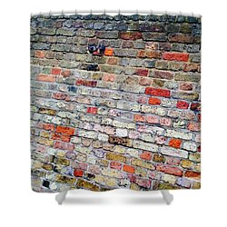 London Bricks Shower Curtain by Tiffany Marchbanks