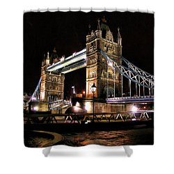 London Bridge At Night Shower Curtain by Dean Wittle