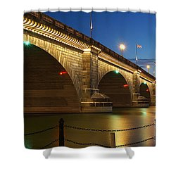 Shower Curtain featuring the photograph Twilight Reflections by Broderick Delaney