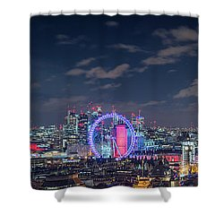 Shower Curtain featuring the photograph London By Night by Stewart Marsden
