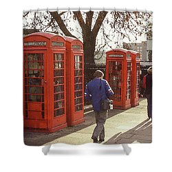 London Call Boxes Shower Curtain