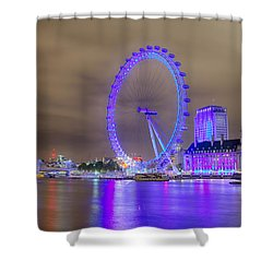 London Cityscape At Night 5x7 Shower Curtain