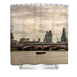 London Cityscape Shower Curtain