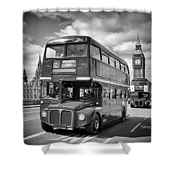 London Classical Streetscene Shower Curtain by Melanie Viola